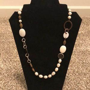 Silpada N1996 Pearl, Brass, & Shell Necklace